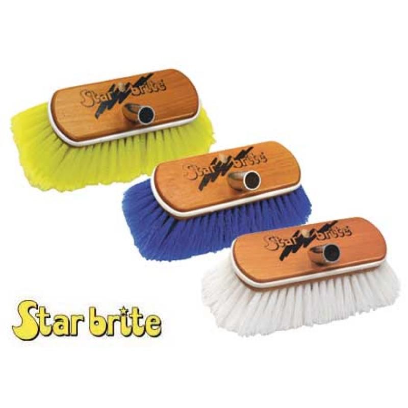 Deluxe wood Deck Brush Star Brite Yellow Soft