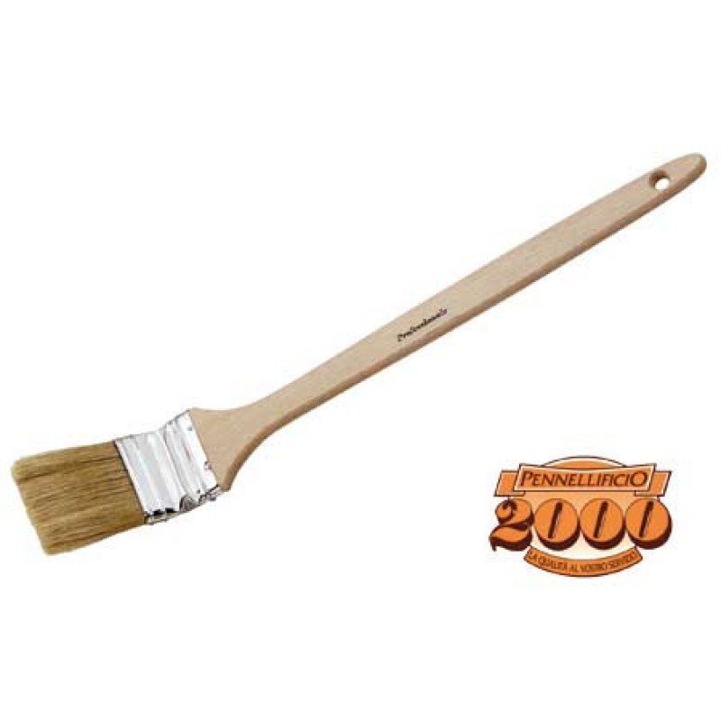 Brush with long wooden handle 60 mm
