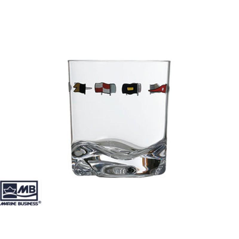 6 Unidades de Vaso de Agua Racing en Melamina