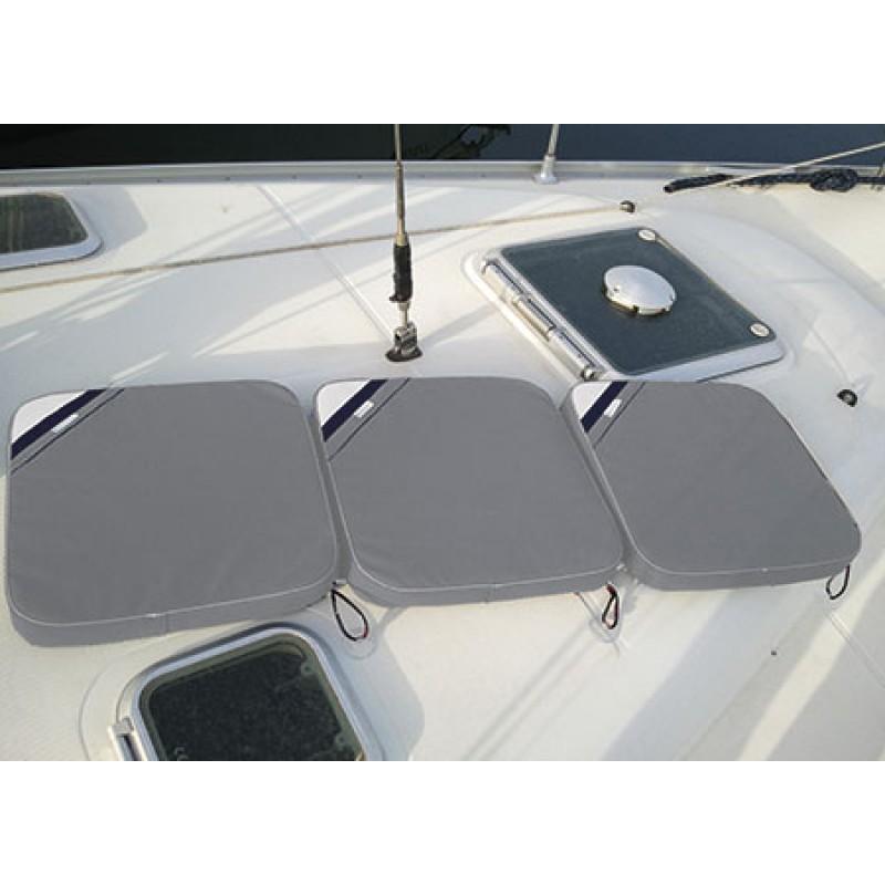 Extendible Comfortable acrylic fabric cushion 45 x 45cm Grey