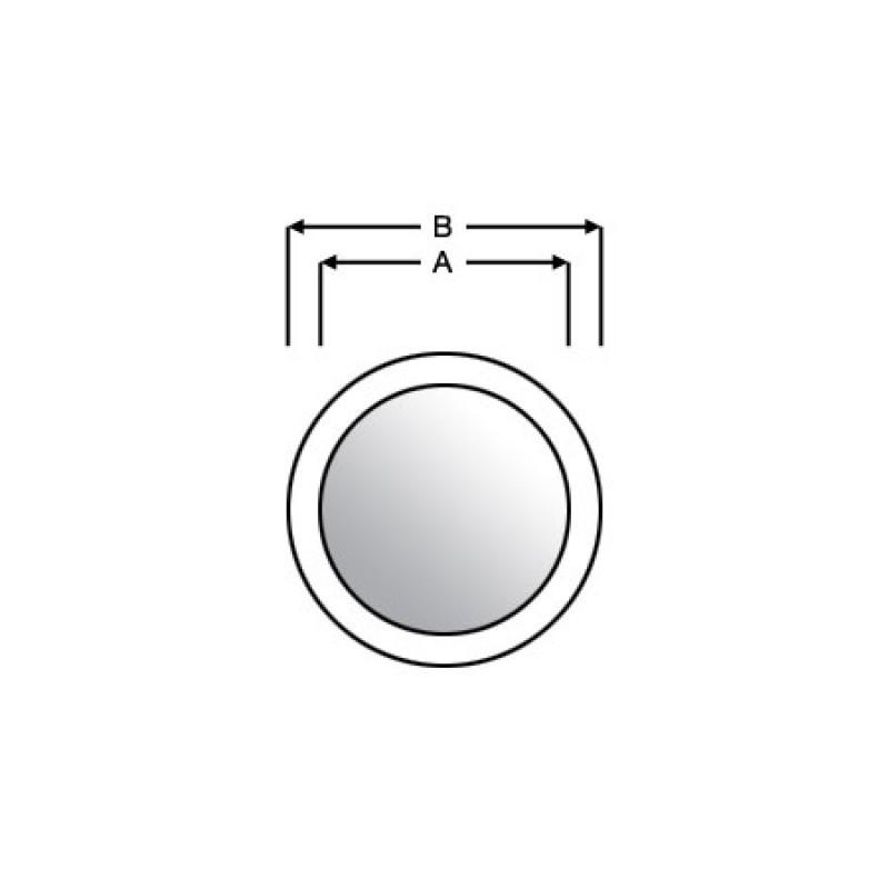 Ojo de buey de bronce espejo D260