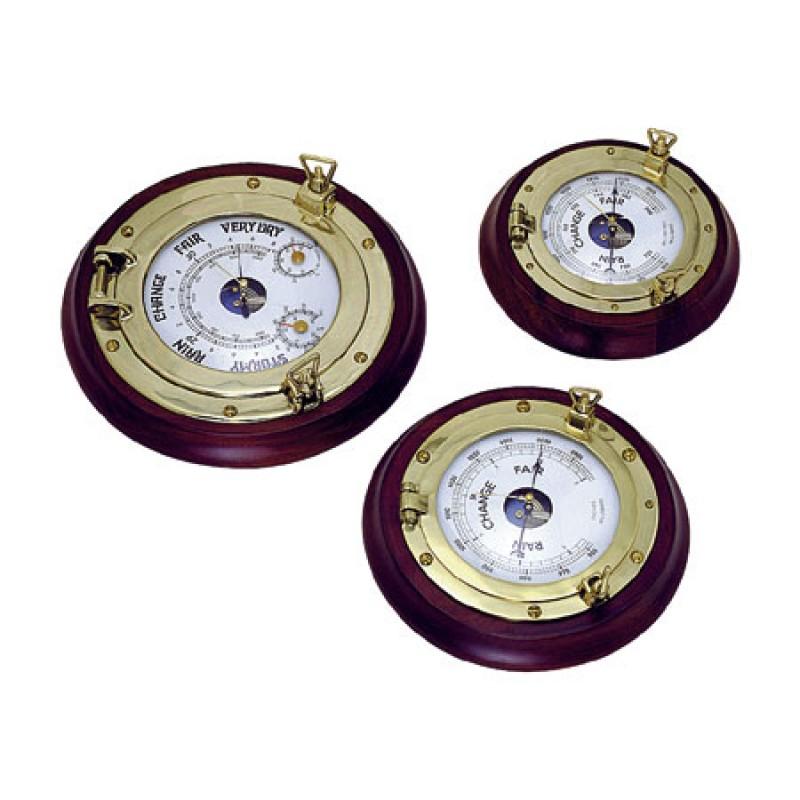 Reloj ojo de buey de madera y latón D230