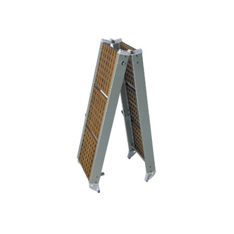 Pasarela plegable de aluminio y madera marina 250 x 37cm